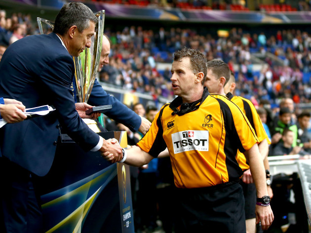 Nigel Owens receives his medal