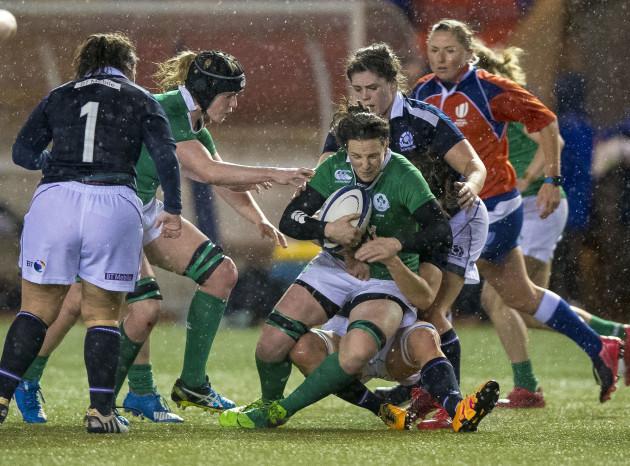 Emma Wassell tackles Paula Fitzpatrick