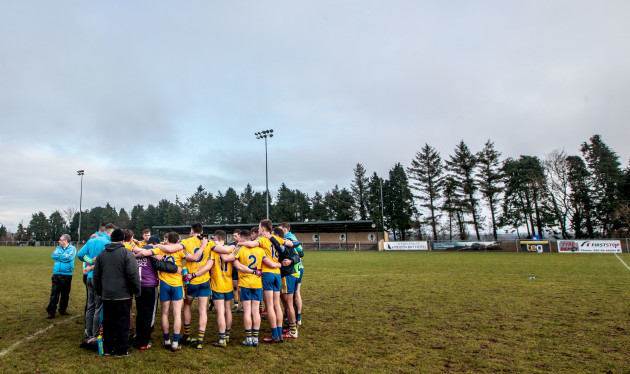 Roscommon huddle after the game