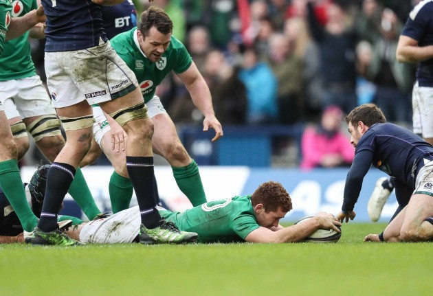 Paddy Jackson scores their third try
