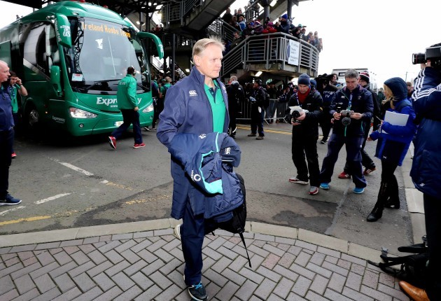 Joe Schmidt arrives