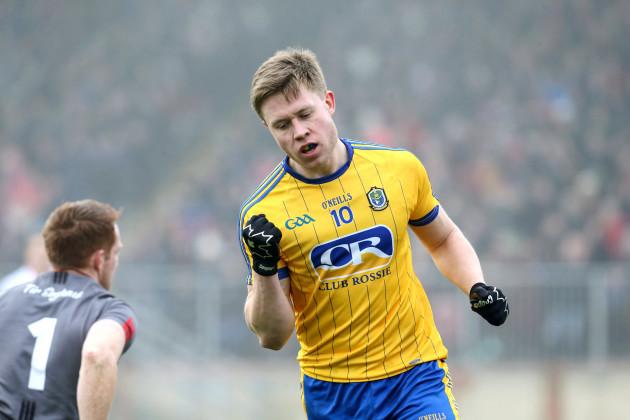 Niall Daly celebrates scoring a goal