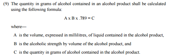 alcohol bill