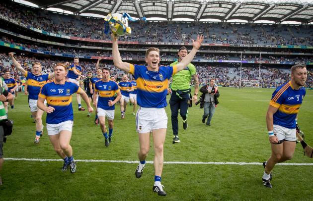Brendan Maher celebrates with the Liam McCarthy Cup