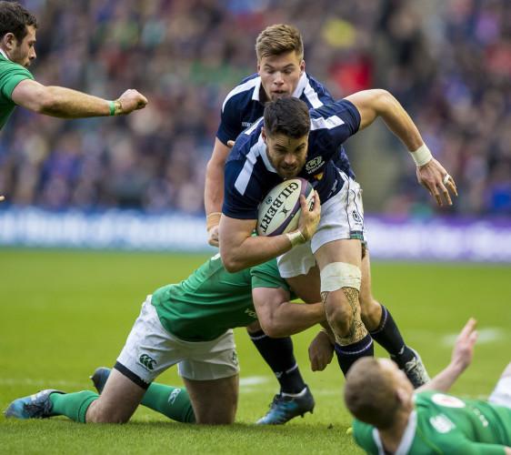 Paddy Jackson tackles Sean Maitland