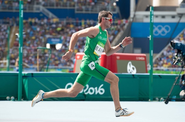 Thomas Barr on his way to finishing fourth