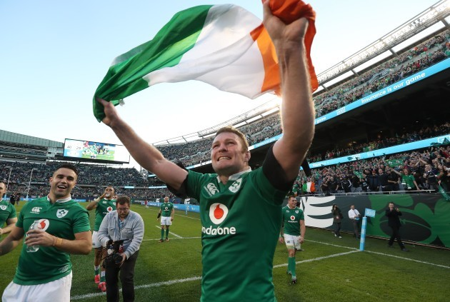 Donnacha Ryan celebrates winning