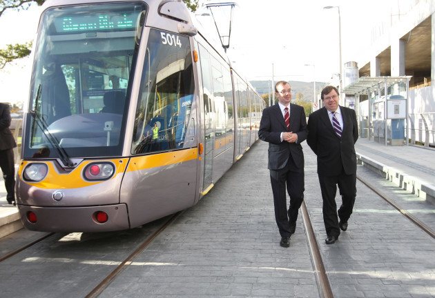 Brian Cowen opens new LUAS Cherrywood Extensions