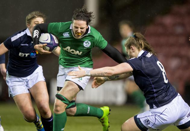 Jade Konkle tackles Paula Fitzpatrick