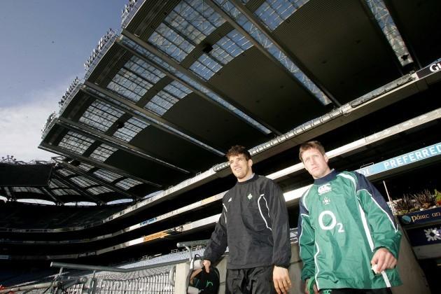 Donncha O'Callaghan and Ronan O'Gara