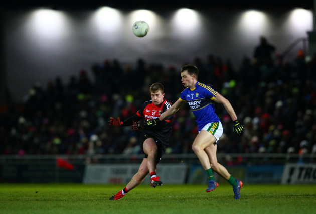 Jack Barry tackles Cillian O'Connor