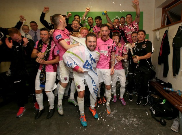 Wexford Youths celebrate winning promotion
