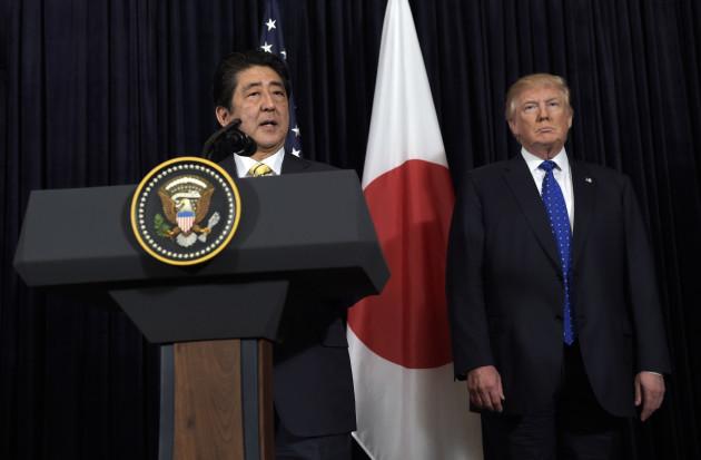 Trump US Japan