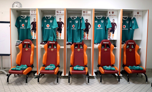 A view of the Ireland changing room