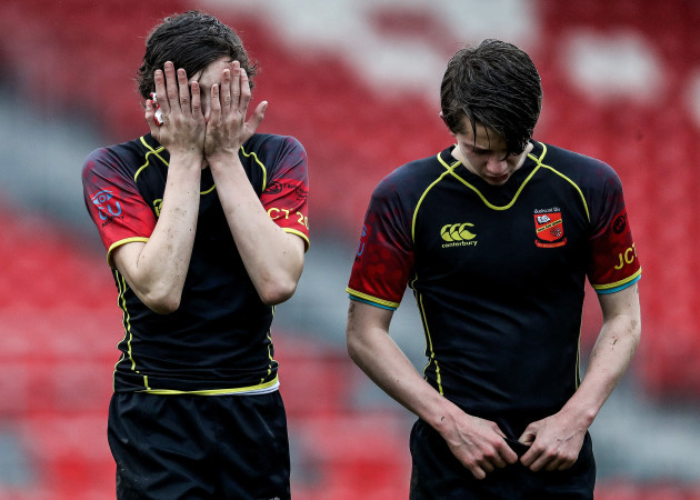 Ardscoil Ris dejected after the game