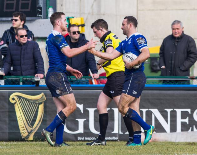 Rory O'Loughlin and Dave Kearney celebrate