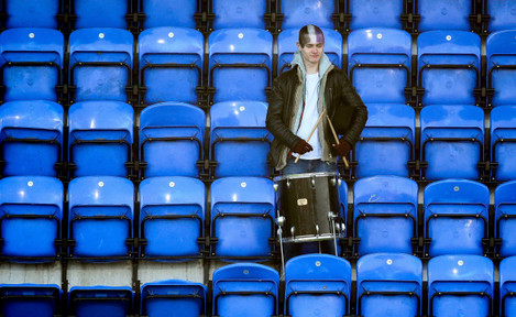 A lone Terenure fan after the game