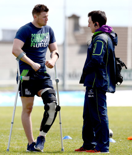 Eoghan Masterson and physio Dave Hanly