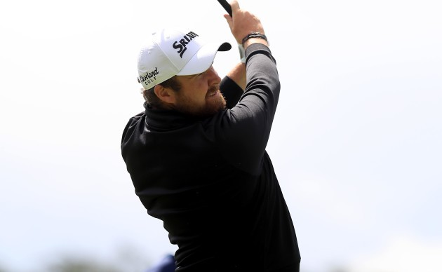 Shane Lowry on the 1st hole