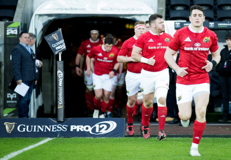 Munster players take to the pitch