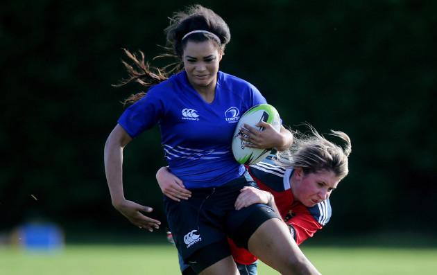 Eimear Corri tackled by Evelyn Buckley