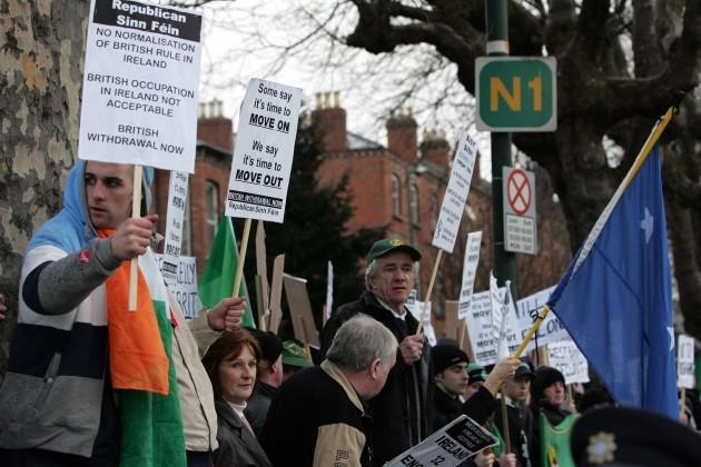 Protestors outside Croke Park