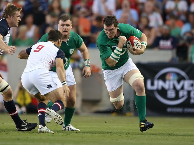 Peter O'Mahony in action against the US in 2013.