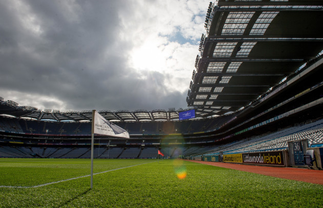 A general view of Croke Park ahead of today's matches