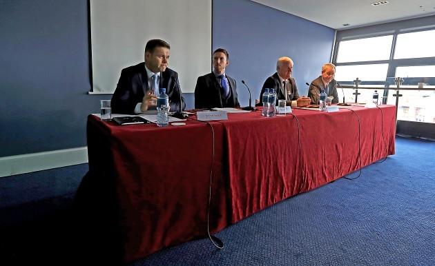 Dessie Farrell, Seamus Hickey, Aogán Ó Fearghaíl and Paraic Duffy