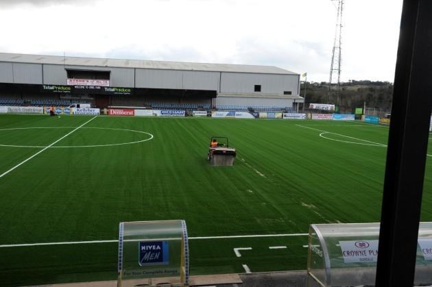 Oriel Park pitch