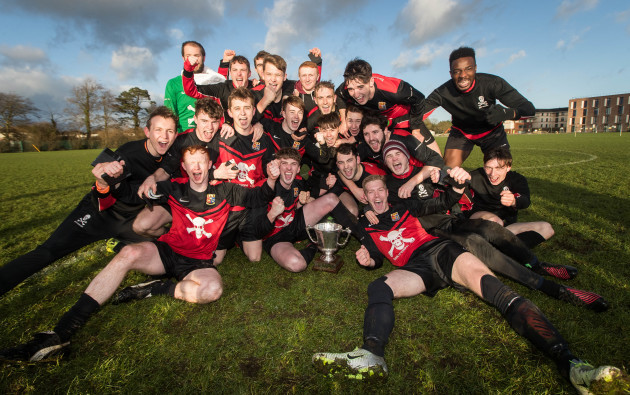 UCC celebrate winning The Collingwood Cup