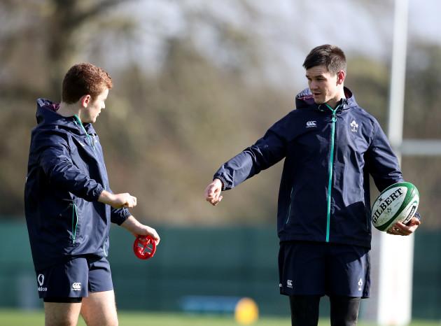 Paddy Jackson with Jonathan Sexton