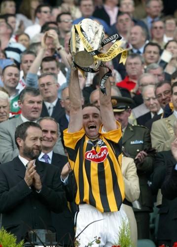 DJ Carey lifts the Liam McCarthy Cup 14/9/2003