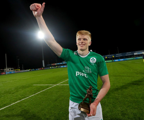 Tommy O'Brien celebrates
