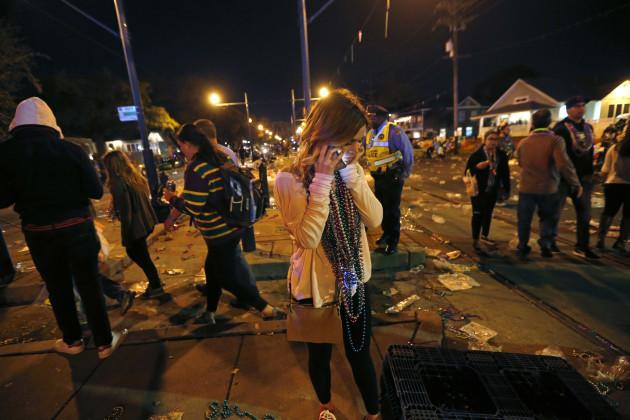 Mardi Gras Car Hits Crowd