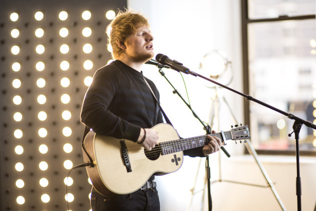 Ed Sheeran session at Capital FM
