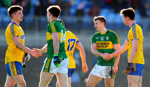 James O'Donoghue an Tadhg O'Rourke after the game