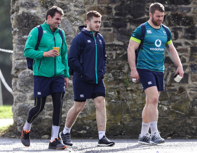 Jared Payne, Paddy Jackson and Sean O'Brien
