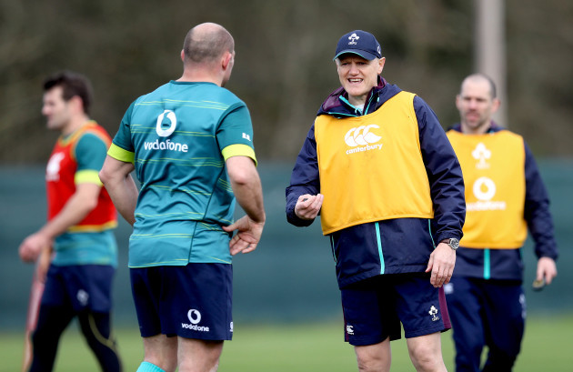 Joe Schmidt with Rory Best