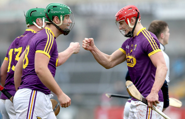 Lee Chin celebrates with Conor McDonald at the final whistle
