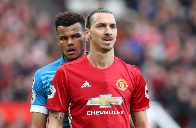 Zlatan Ibrahimovic and Tyrone Mings File Photo
