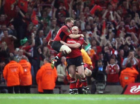Anthony Horgan and John Hayes celebrate