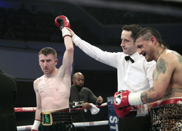 Paddy Barnes is declared the winner