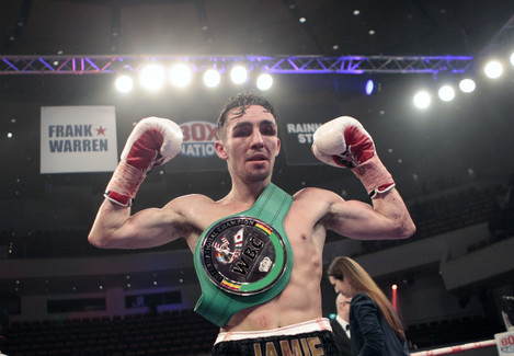 Jamie Conlan celebrates winning the vacant WBC International Silver Super-Flyweight Championship