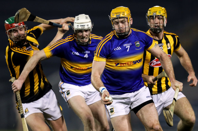Alan Murphy and Colin Fennelly with Michael Cahill and Padraic Maher