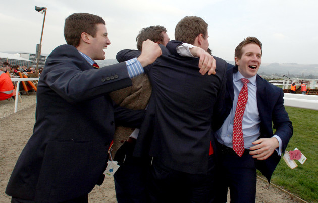 Punters celebrate as Hurricane Fly wins