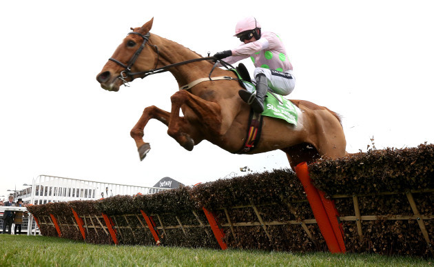 Annie Power ridden by Ruby Walsh on the way to winning the Stan James Champion Hurdle