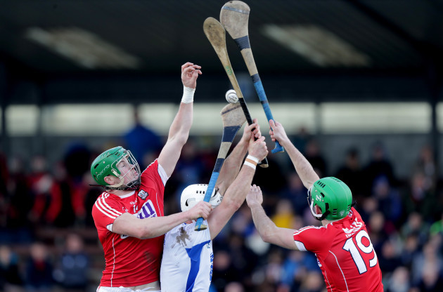 Shane Fives with Seamus Harnedy and Michael Cahalane