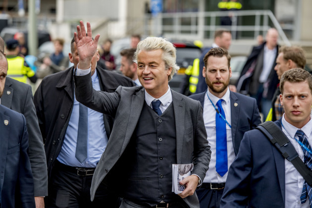 Dutch Far-Right PPV Candidate Geert Wilders Election Campaign