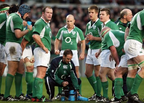 Mike McGurn with Irish team
